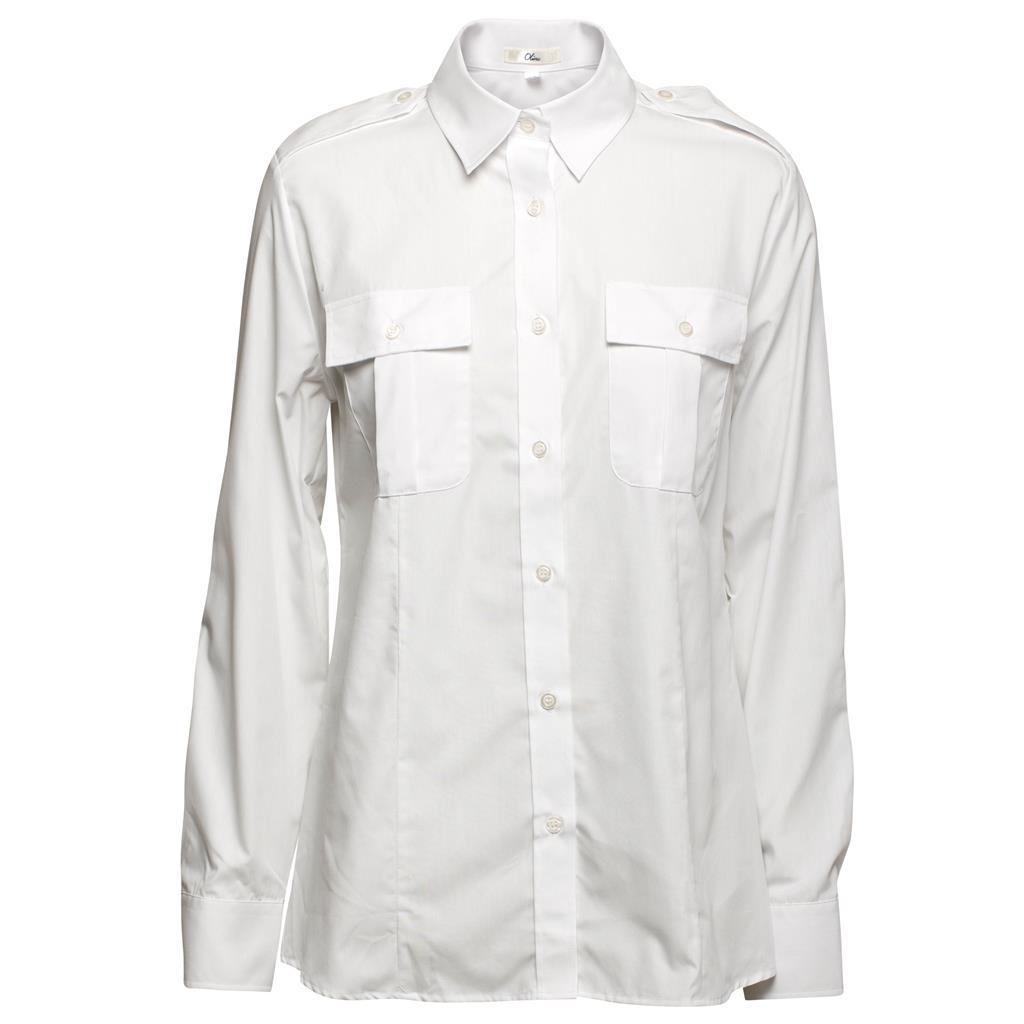 974023_Womens Long-sleeved white pilot shirt.jpg