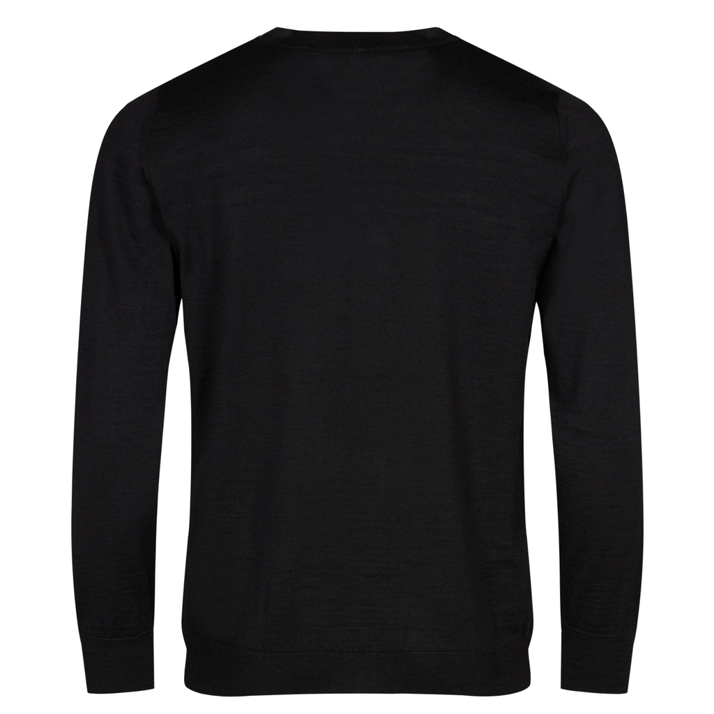 974305_V-neck cardigan black for men.png
